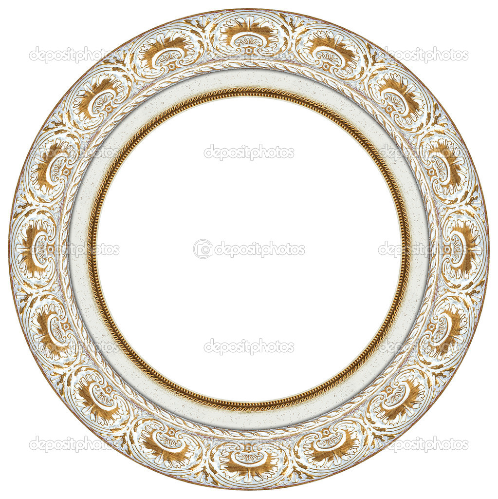 Ovale gold Bilderrahmen — Stockfoto © balaikin #1116934