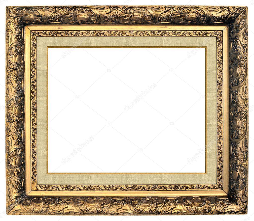 Ovale gold Bilderrahmen — Stockfoto © balaikin #1126737