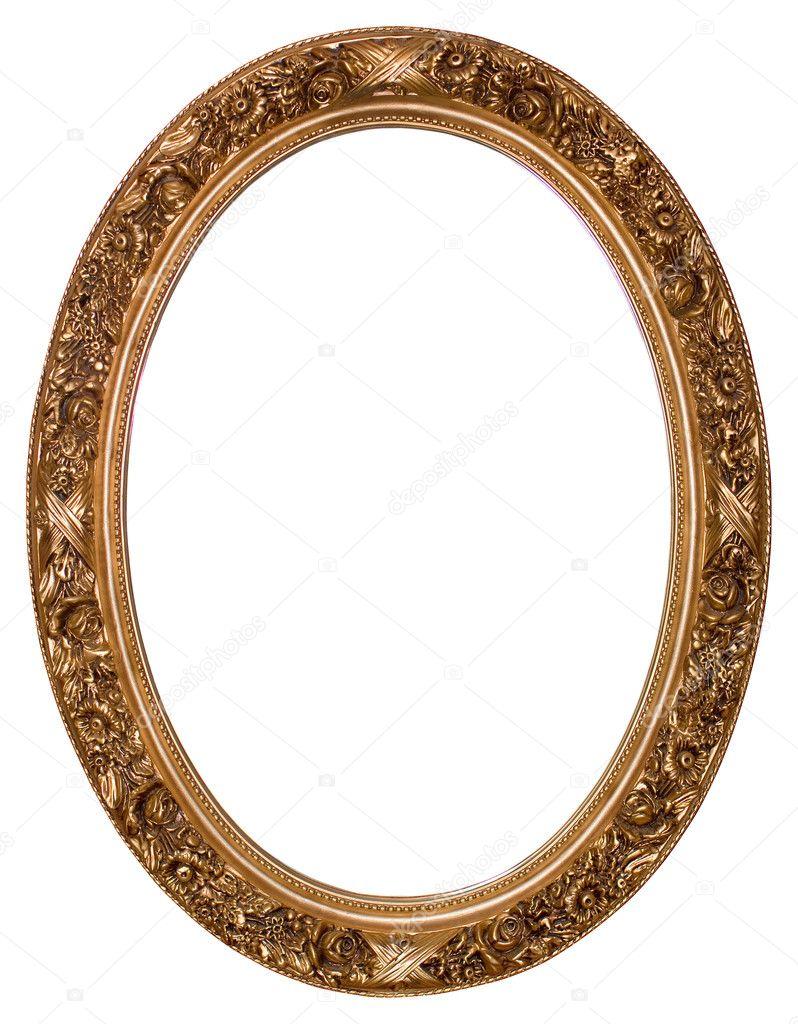 Ovale gold Bilderrahmen — Stockfoto © balaikin #1157161