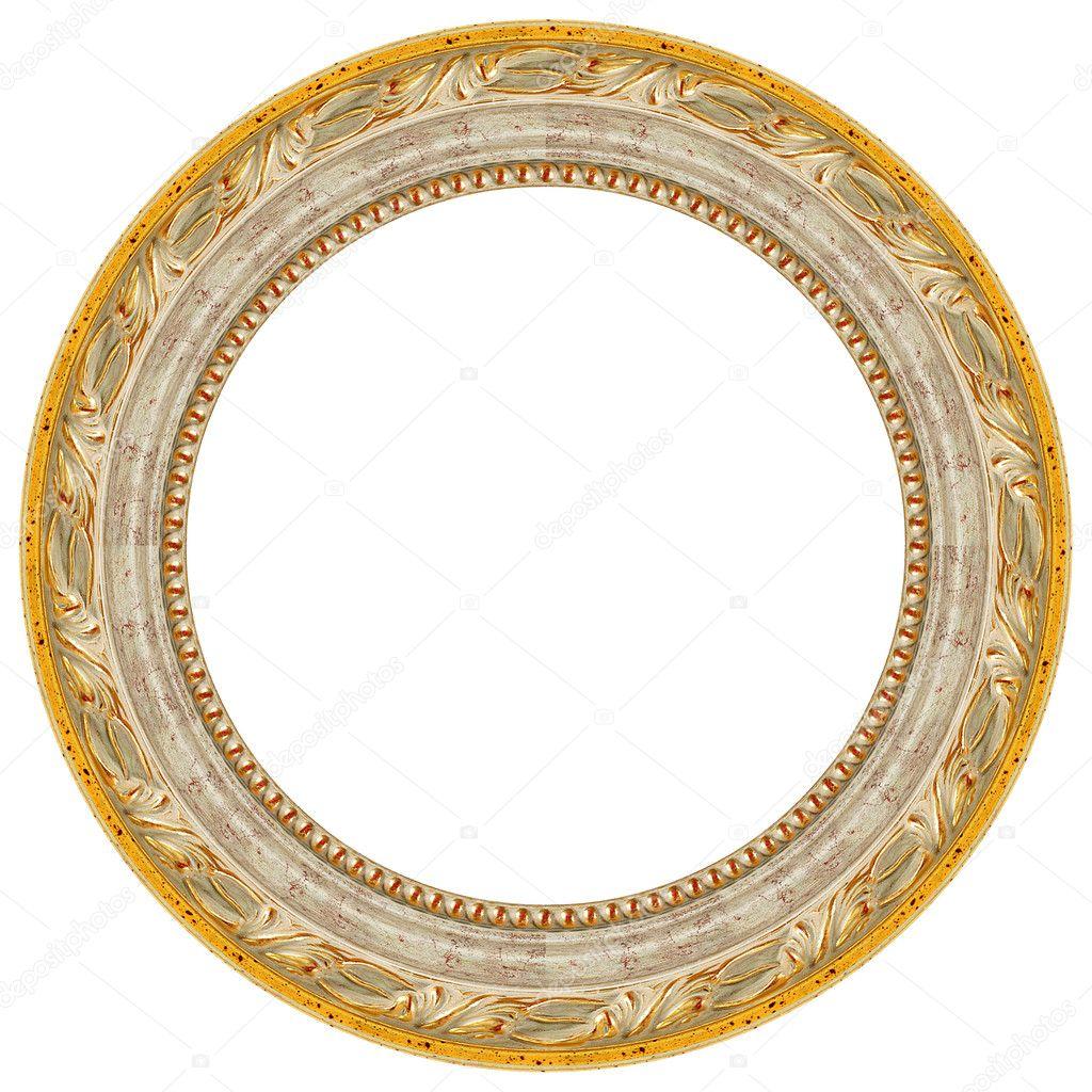 Ovale gold Bilderrahmen — Stockfoto © balaikin #1175156