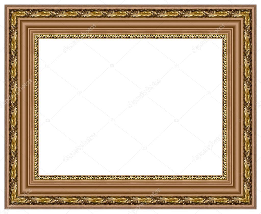 Ovale gold Bilderrahmen — Stockfoto © balaikin #1178991