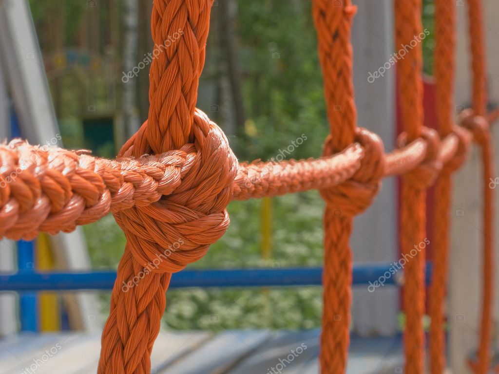 Tied rope knot