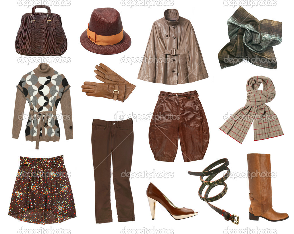 Women brown clothes set