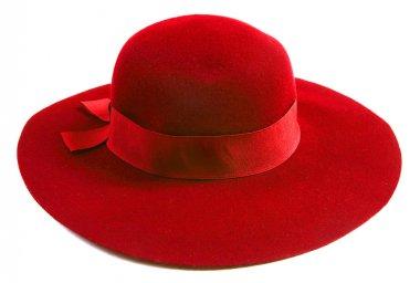 Luxury women red hat stock vector