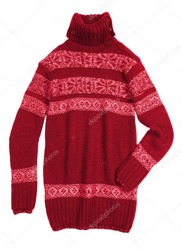 f79c6fff0a07 κόκκινο δεμένη πουλόβερ — Φωτογραφία Αρχείου © kadroff  1258314