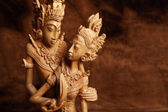Thai hölzerne Figur