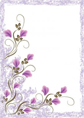 Grunge card with meadow flower.