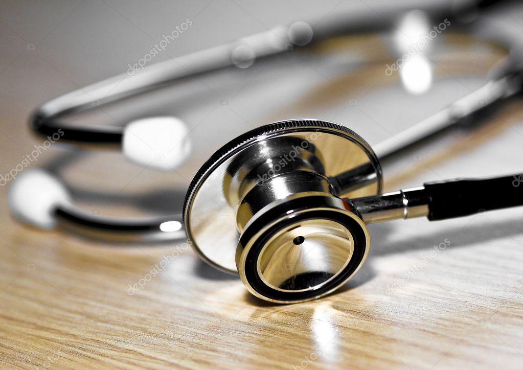 Stethoscope medic tool close up image background