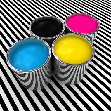 Cmyk color paint background