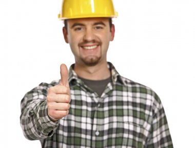 Happy handyman thumb up