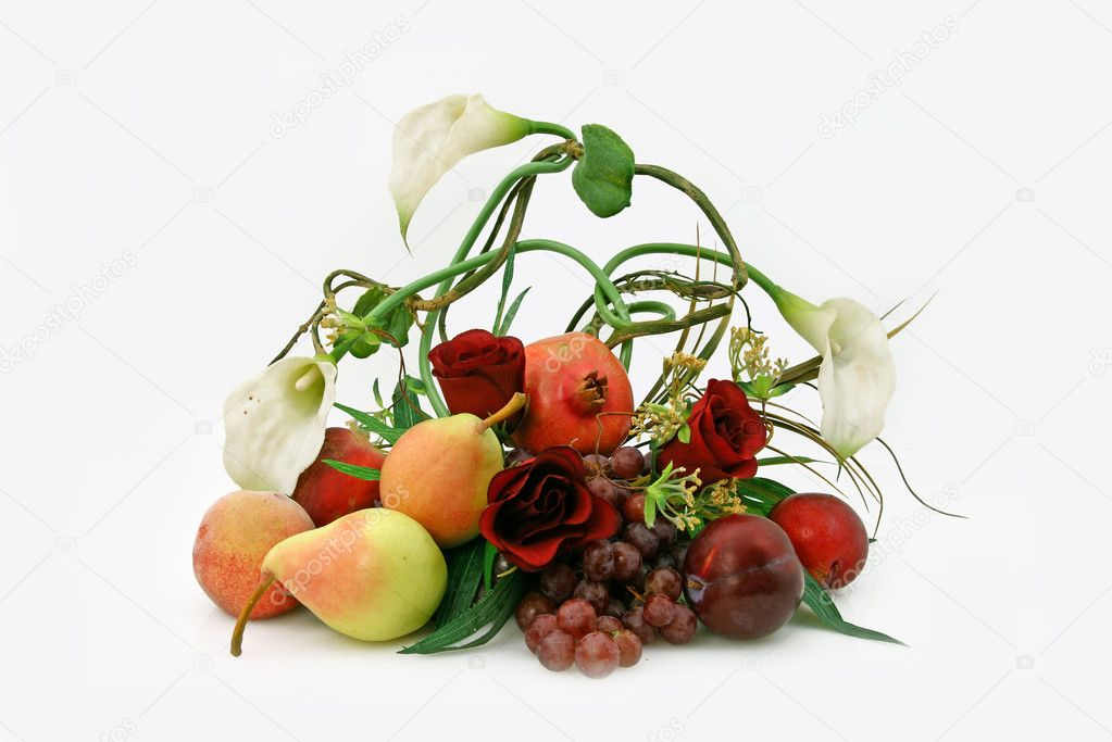 Ikebana from fruit