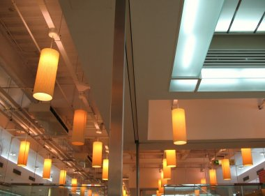 Ceiling of a Large Restaurant
