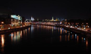 Night Moscow Kremlin Center