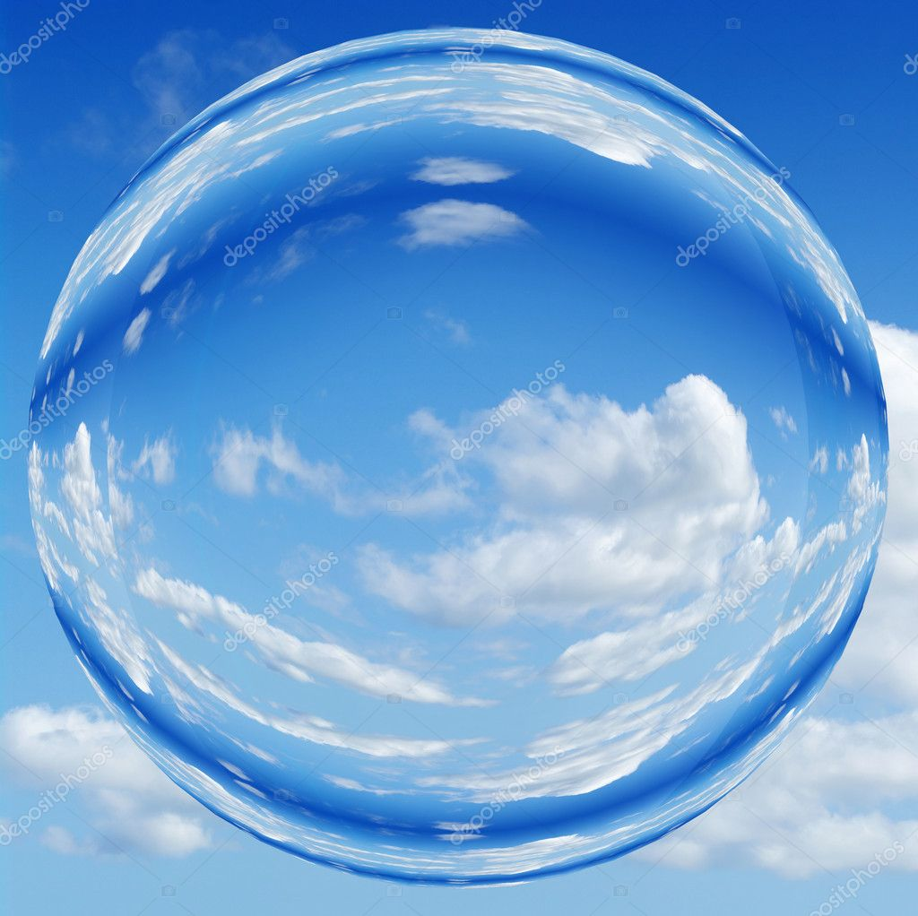 Blue sky orb ball bubble — Stock Photo © clearviewstock ...