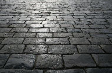 Paving blocks after rain