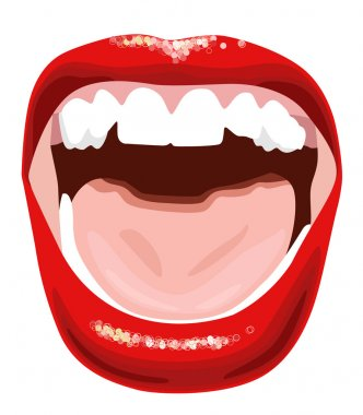 Screaming mouth vector illustration