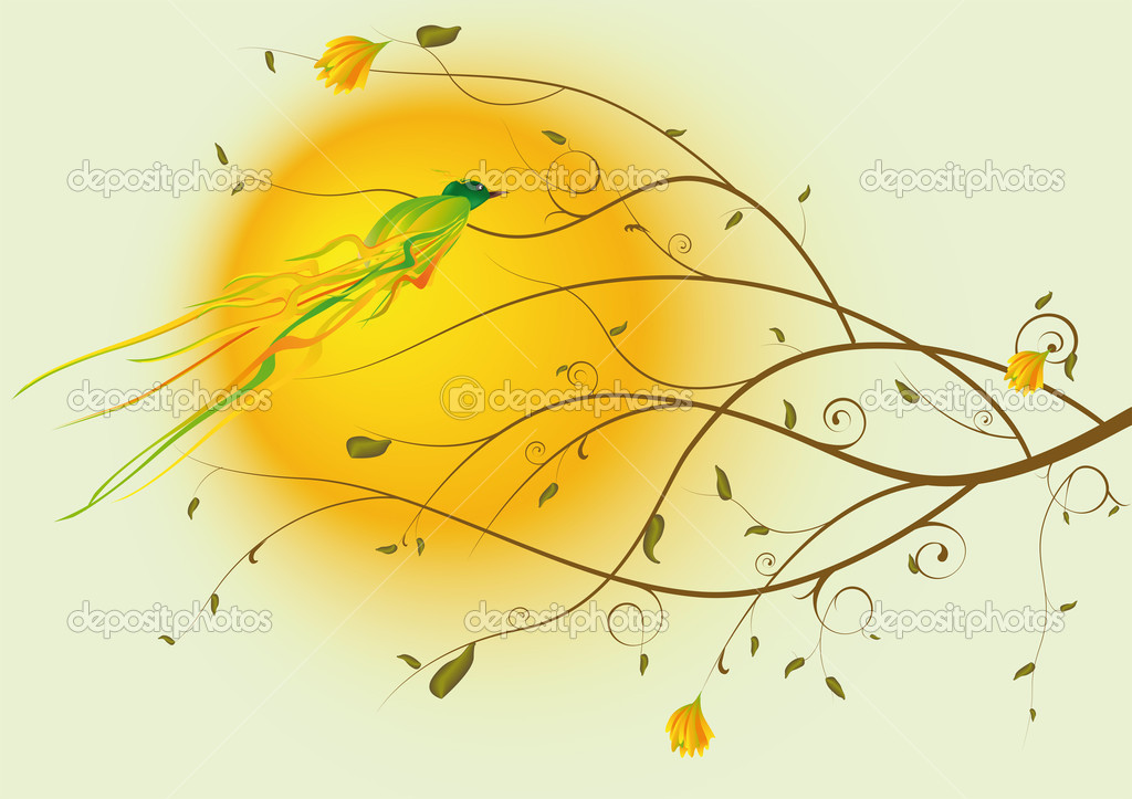 Bird and a tree