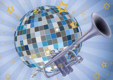 Disco ball trumpet