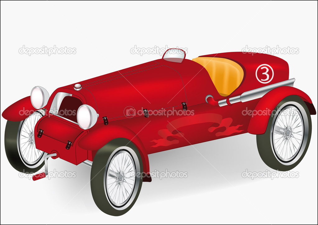 Old racing car — Stock Vector © liusaart #1382969