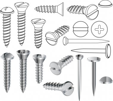 Screws and nails