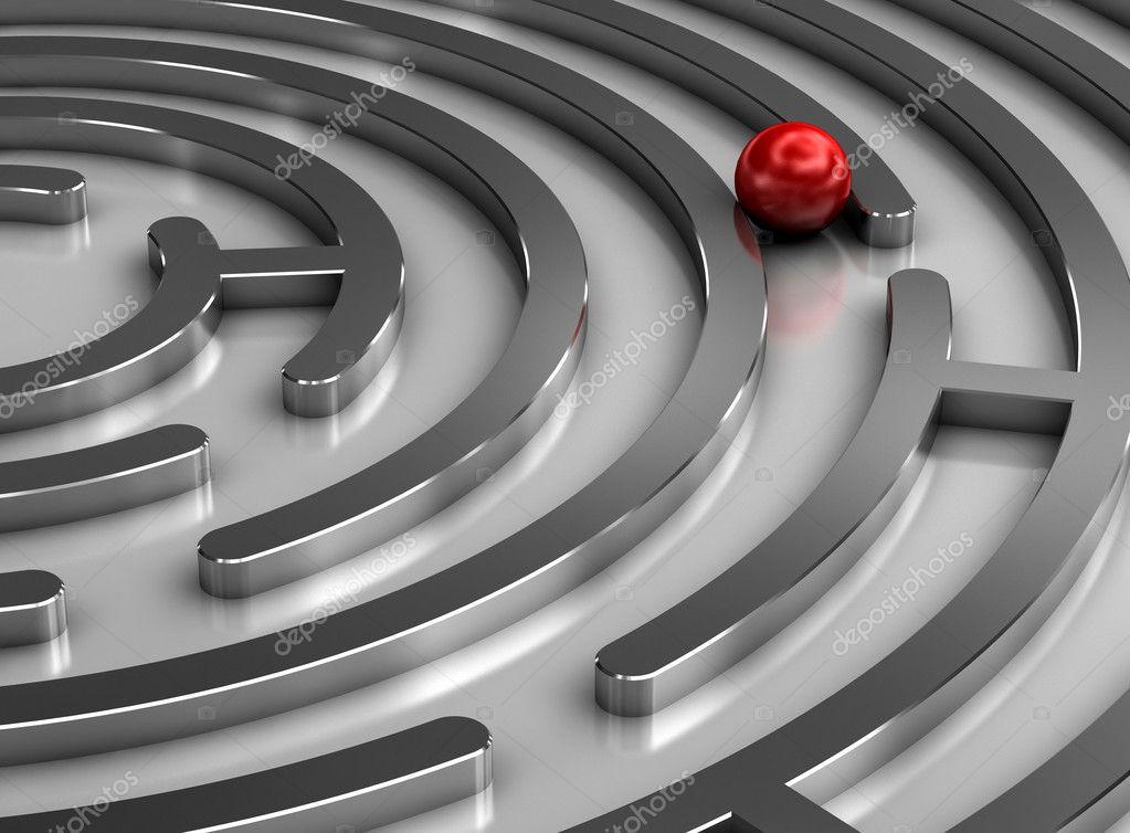 Steel labyrinth