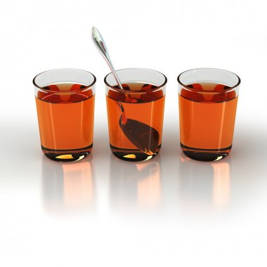 Tea glass with spoon