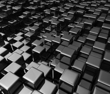 Black boxes background