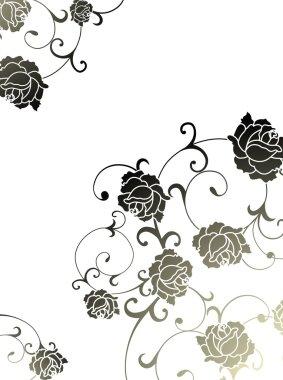 Rose vector background