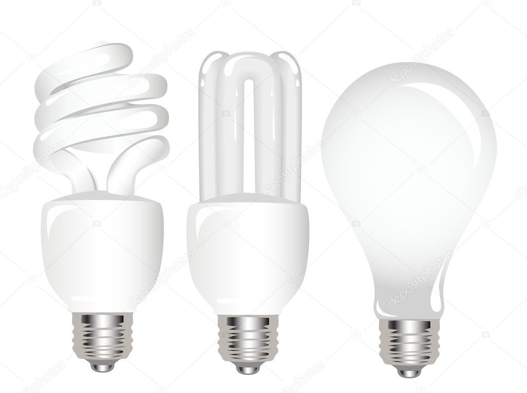 Types Of Light Bulbs Stock Vector Ativka 1085280