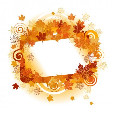 Autumn frame: maple leaf. Place for your