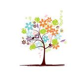 krásné květinové strom
