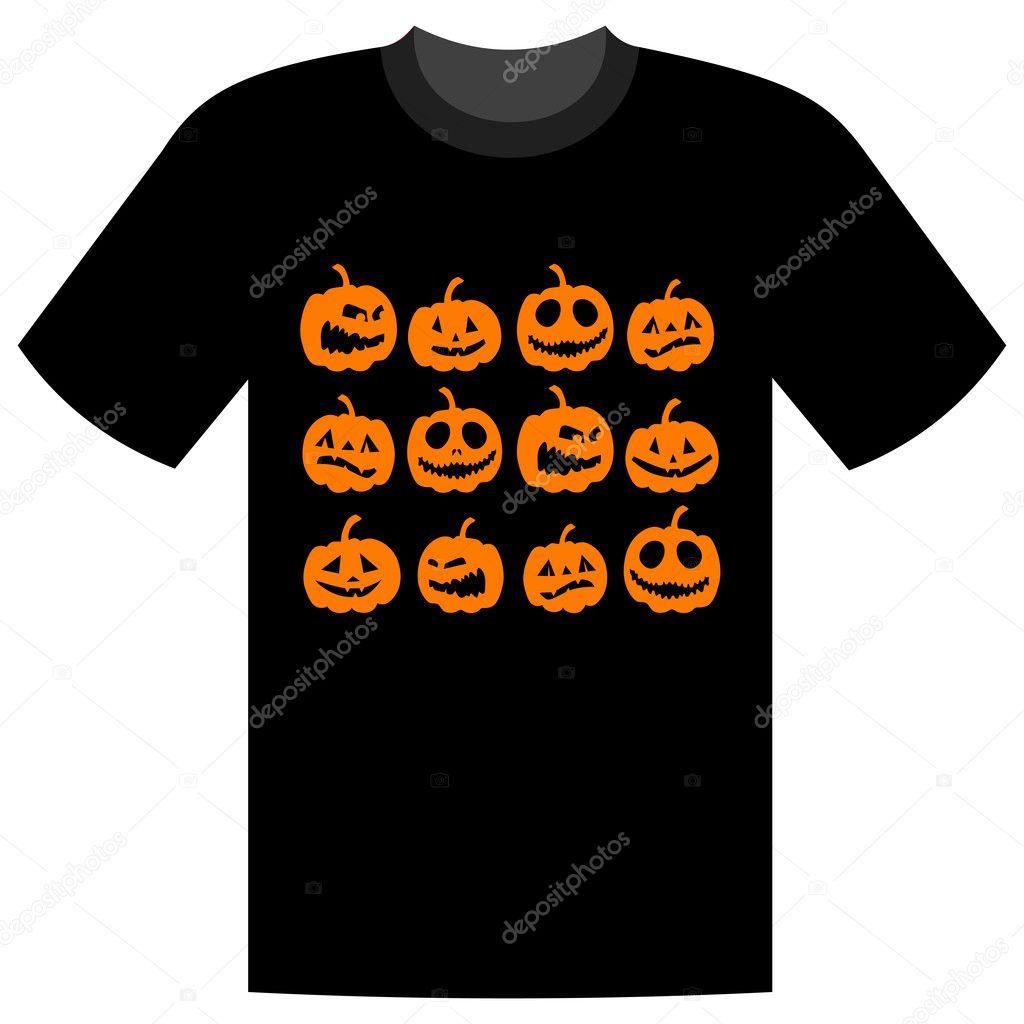 Design t shirt for holiday - Halloween Holiday T Shirt Design Vector By Kudryashka