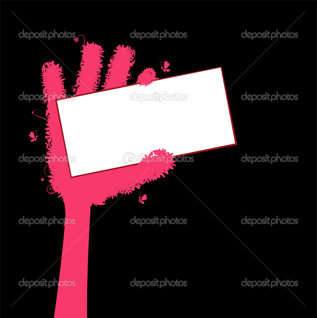 Business card in hand stock vector kudryashka 1950272 business card in hand stock vector 1950272 magicingreecefo Choice Image