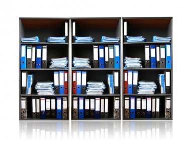Rack with documents