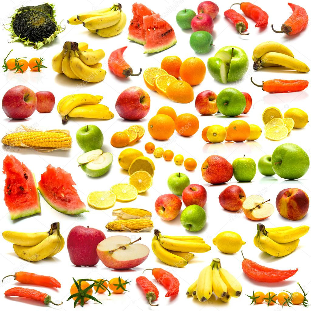 collage from fruits and vegetables 3 u2014 stock photo vikiri 1584409
