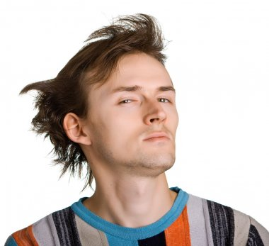 Young men with shaggy hair