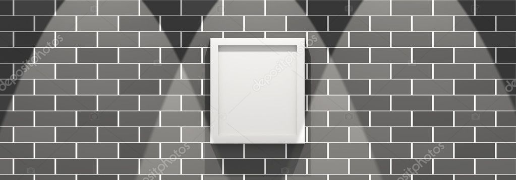 3d picture frame on a brick wall