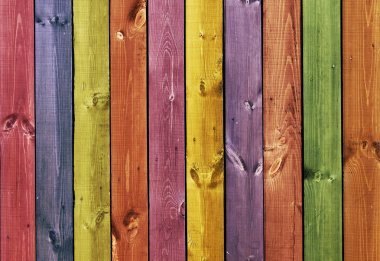 Texture - colored wooden boards