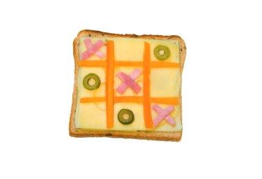 Tic tac toe sandwich