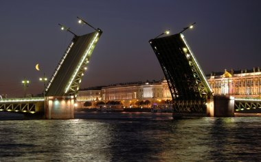 Palace Bridge. Saint-Petersburg, Russia