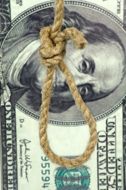 Rope loop on big dollar background