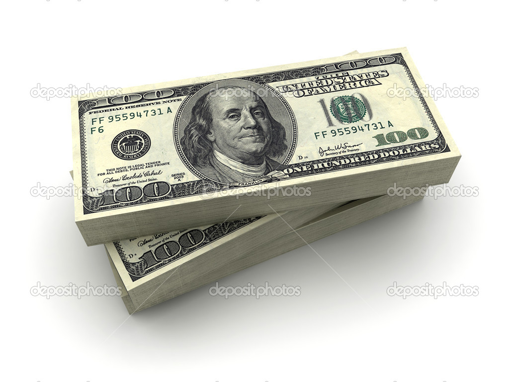 Paquetes De Cien Billetes De Dólar