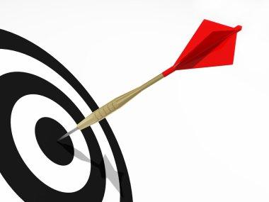 Darts on the black target