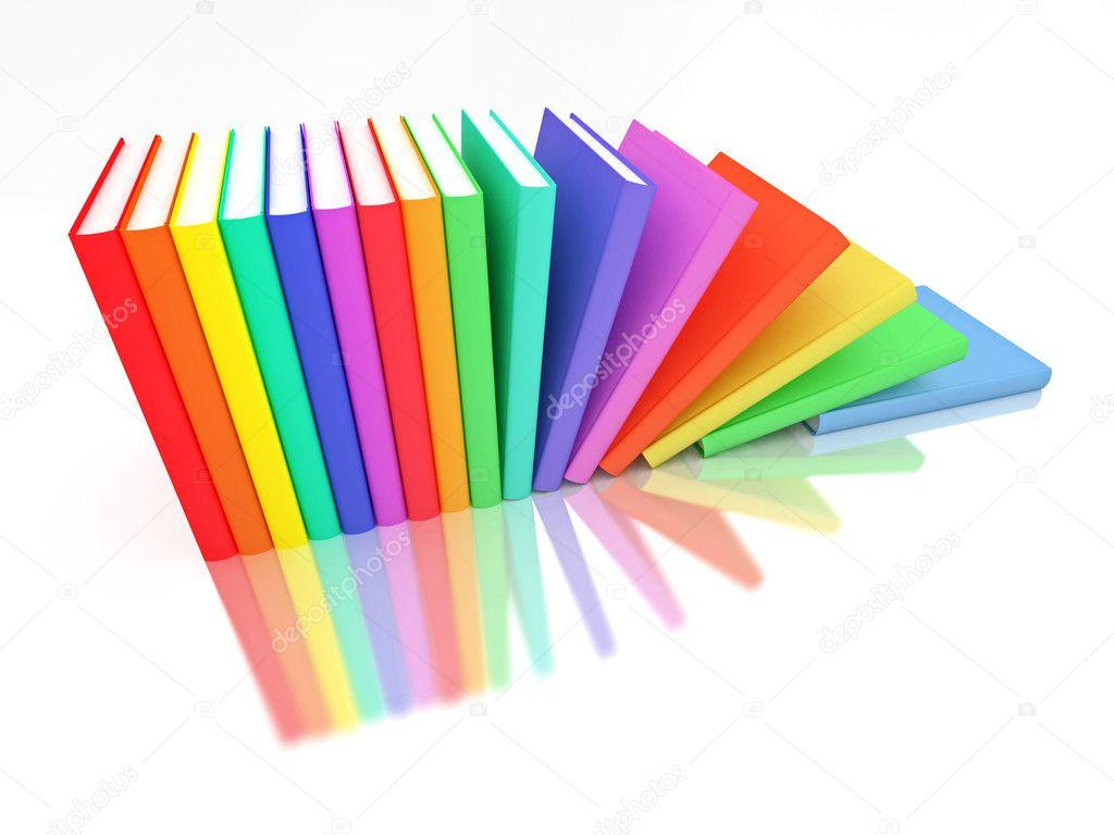 fila de libros coloridos — Foto de stock © Shenki #2626123