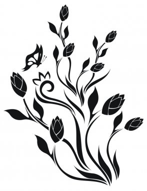 Tulip's floral vector pattern
