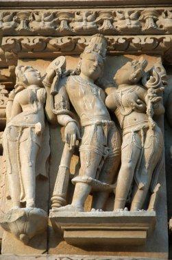 Famous scenes on sacred hindu temple