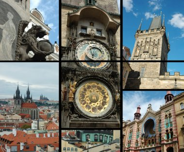 Prague - old city postcard
