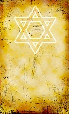 Jewish Yom Kippur grunge background