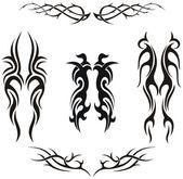 Fotografia set di tatuaggi tribali vettoriale