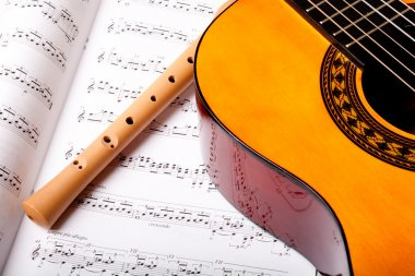 Flute and acoustic guitar